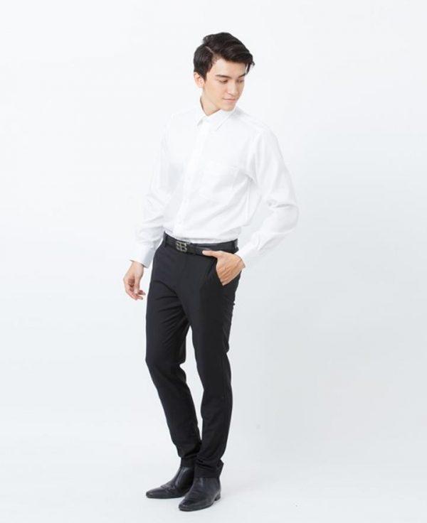 trang phục công sở màu trắng