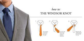 Cách thắt cà vạt đẹp kiểu Simple Windsor Knot