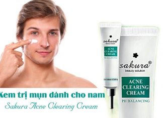 Kem trị mụn cho nam Sakura Clearing Acne Cream