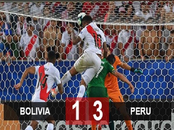 Bolivia 1-3 Peru: Peru soán ngôi đầu bảng A