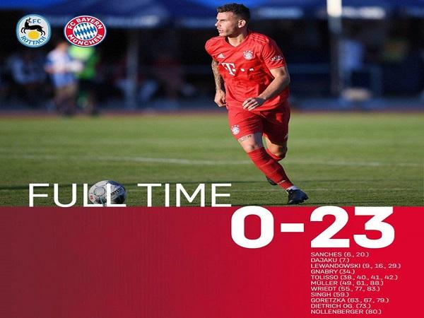 Bayern Munich vùi dập đội làng thê thảm