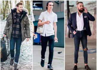 Phối giày với quần jean nam skinny
